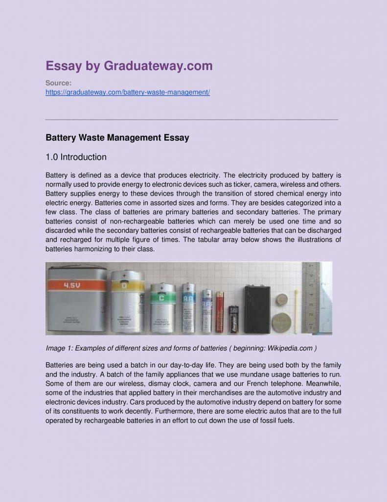 Chemical energy produced through essay