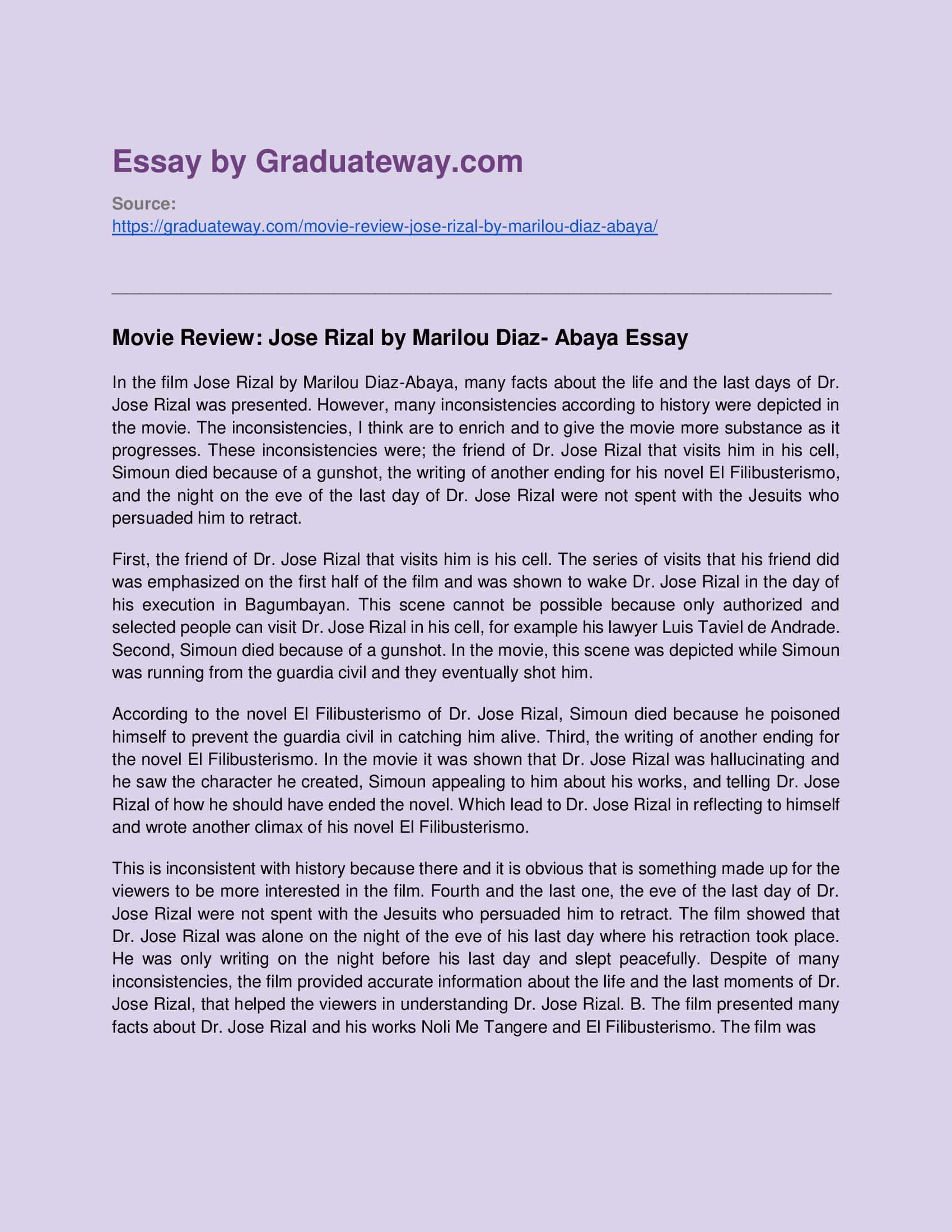 essay about jose rizal